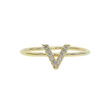 2019 Летний стиль 26 Алфавит Начальный кольцо золотое заполненное для женщин и девушек минимальное нежное Сердце Звезда персонализированное ...(Китай)