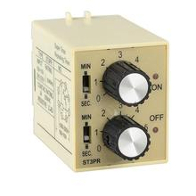 ST3PR electrical time Electronic Counter digital timer relay with socket base