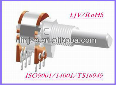 12mm size rotary b10k linear preset potentiometer