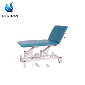 BT-EA017 Hospital Mobile 2-Section Electric Examination Couch Adjustable Exam Bed With Timotion Motor
