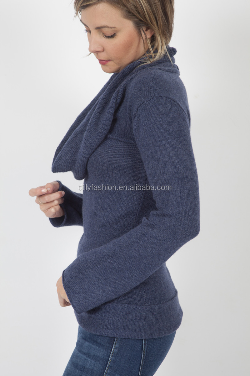 New Arrival High Quality Luxury Cashmere Cowl Neck Sweater - Buy ...