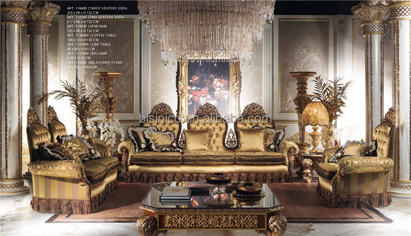 Real italiana conjunto de móveis de sala de jantar, escultura em ...