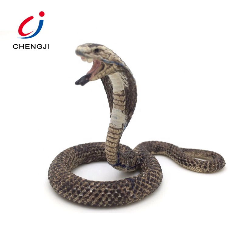 Factory supplier animal kids toy figurine cobra snake toy for sale