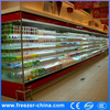 Commercial vegetable and fruit open front multi-deck air curtain chiller cabinet