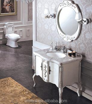 Vintage Retro Venetian White Bathroom Vanity With Mirror Silver Leaf Distressed Bathroom Vanity Wts331 Buy Vintage Bathroom Vanity Retro Bathroom