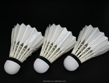 Best quality duck feather badminton shuttlecock for training and game