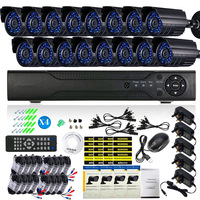 Surveillance Security System 16 Channel Standalone H.264 DVR 16pcs CCTV Infrared Day/Night Camera