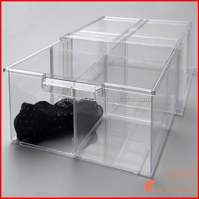 Lovely Acrylic Shirt Storage Stackable Drawer / Clothing Storage Boxes / Storage  Bins / Garment Storing