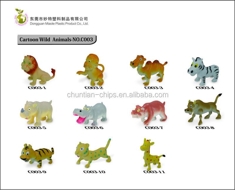 2 Funny Farm Animals Plastic Animal Toy Zoo Animal View Animal Toy