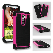 SILICONE COMBO HYBRID HARD SOFT ARMOR BACK COVER FOR LG G2 CASE