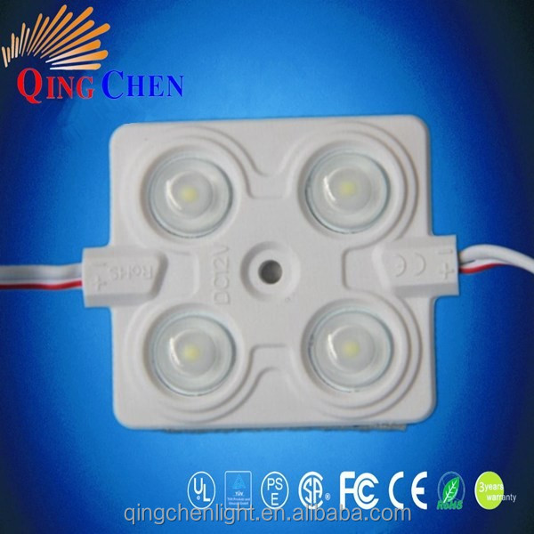 IP65 waterproof ,5 years warranty,12v 200lm everlight 2835 4 leds smd2835 led module ,2.4w 2835 led module with UL certificate