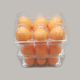 6 holes plastic PET clear quail egg packing tray /quail egg cartons for sale