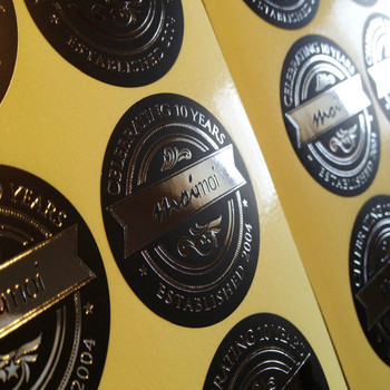 Custom stickers design gold foil labels stickers aluminium foil sticker paper made in china