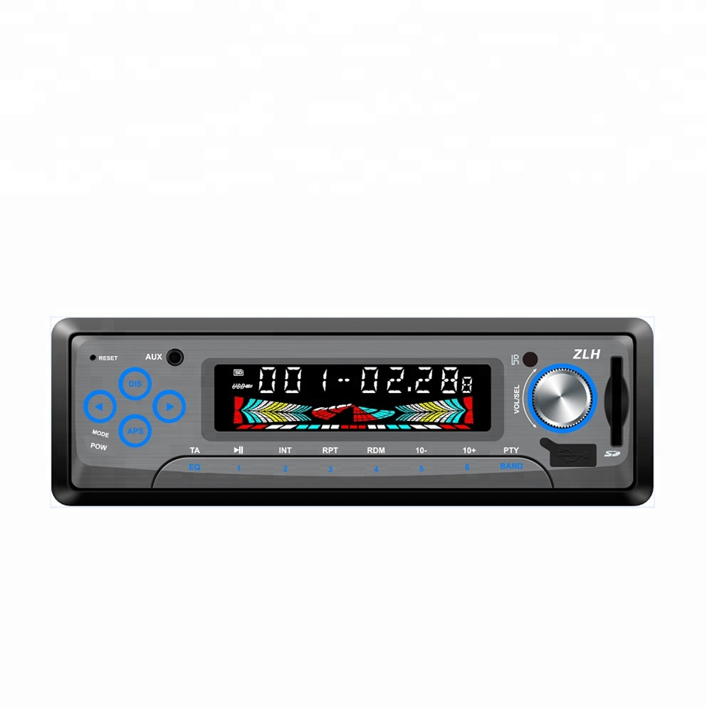Universal Single DIN Panel Tetap USB/SD/FM Radio Audio Tuner Nirkabel Bluetooth Media Stereo Mobil MP3 Pemain terbaik