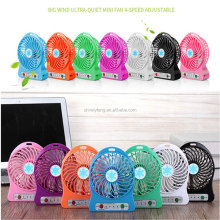 wholesale Handheld 18650 Li-ion Rechargeble Battery Powered Fan 3 Speed Modes Powered Outdoor Camping office Cooler