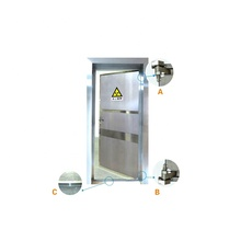 Customize X ray protective Lead lined door/x-ray stainless steel lead door for x-ray room