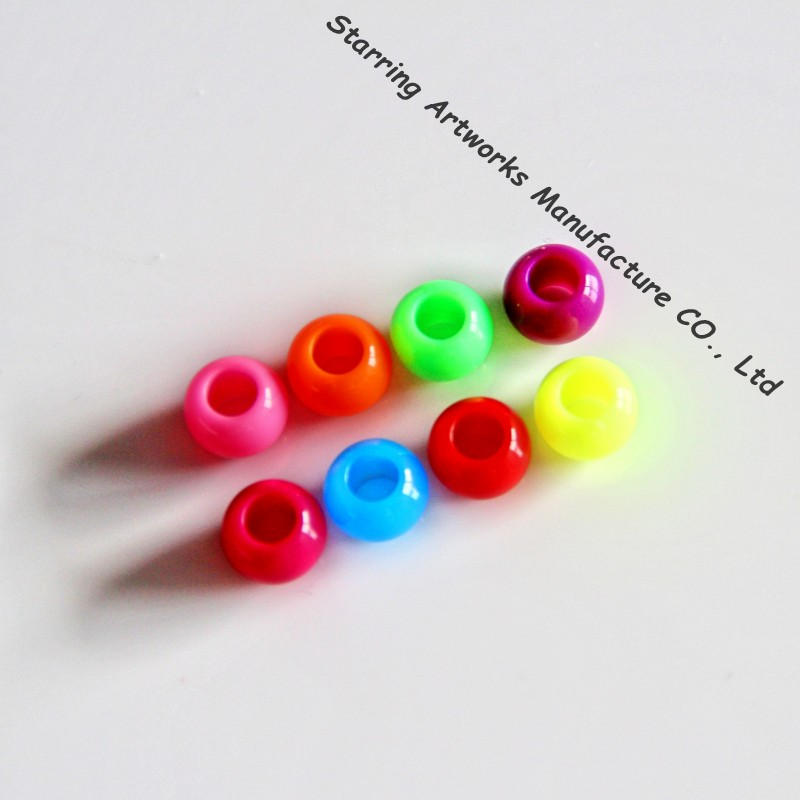 10mm Mixed Color Plastic Loose Beads For Garment