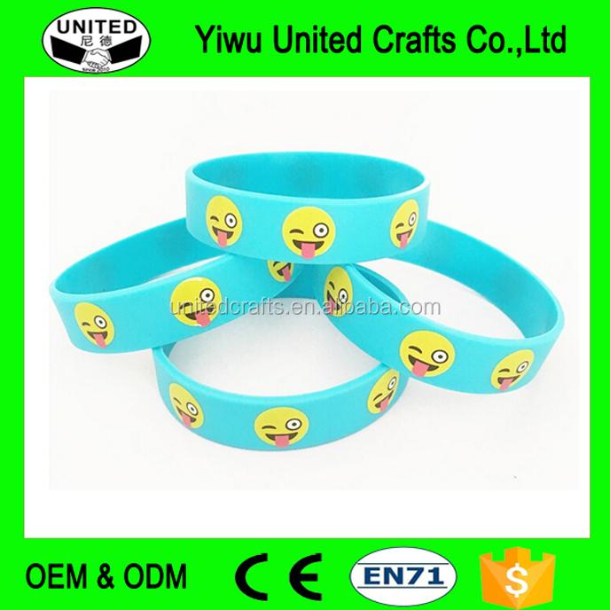 bd4dba2e7f37f Emoticon Silicone Wristband, Emoticon Silicone Wristband Suppliers ...