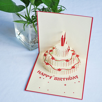 Meilun Art Craft New Style 3D Pop Up Birthday Greeting Card