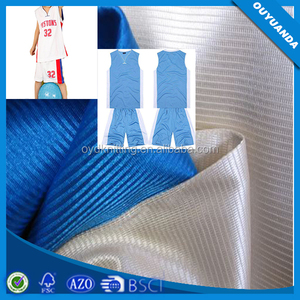 100% Polyester Knitting Dazzle Plain Fabric Used Basketball Cloths