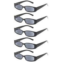 5 шт. в упаковке, ретро очки для чтения для мужчин и женщин, весенние овальные оправы с петлей, удобные цветные очки для чтения 0,5 1,75 2,0 2,5 3,0 4,0(Китай)