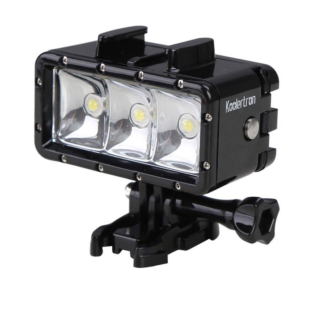 Koolertron Waterproof Diving Light High Power Dimmable LED Light Underwater Light For Gopro Hero 4/3+/3/2/SJCAM SJ4000/SJ5000/Xiaomi