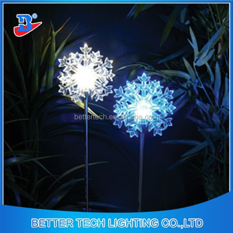 Factory Manufacture Solar Snowflake LED Path Light Outdoor with height 59cm