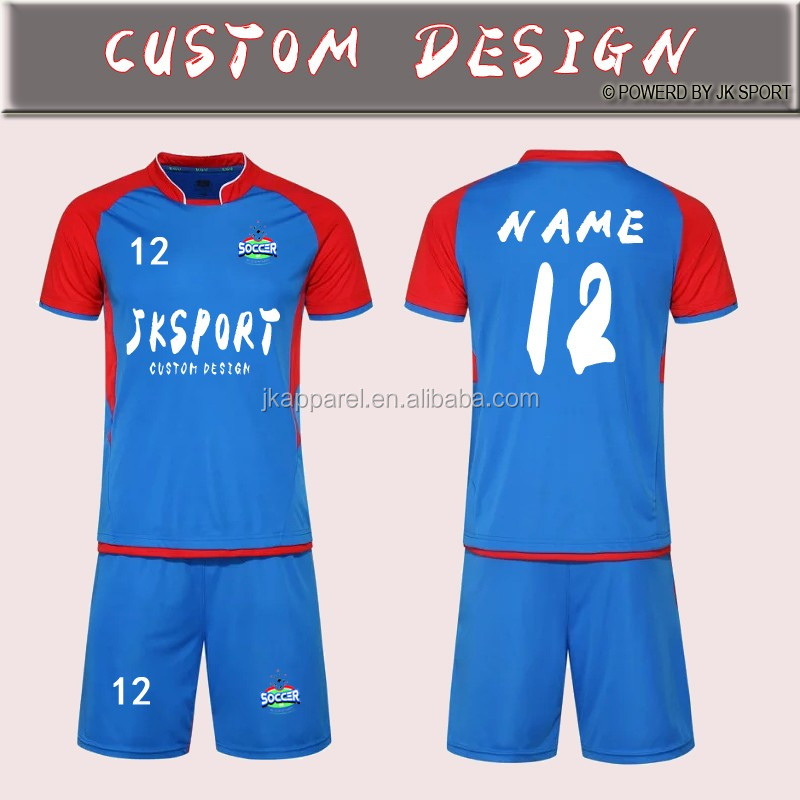 custom jersey football 2017 latest design customized Sublimation sports wear for men