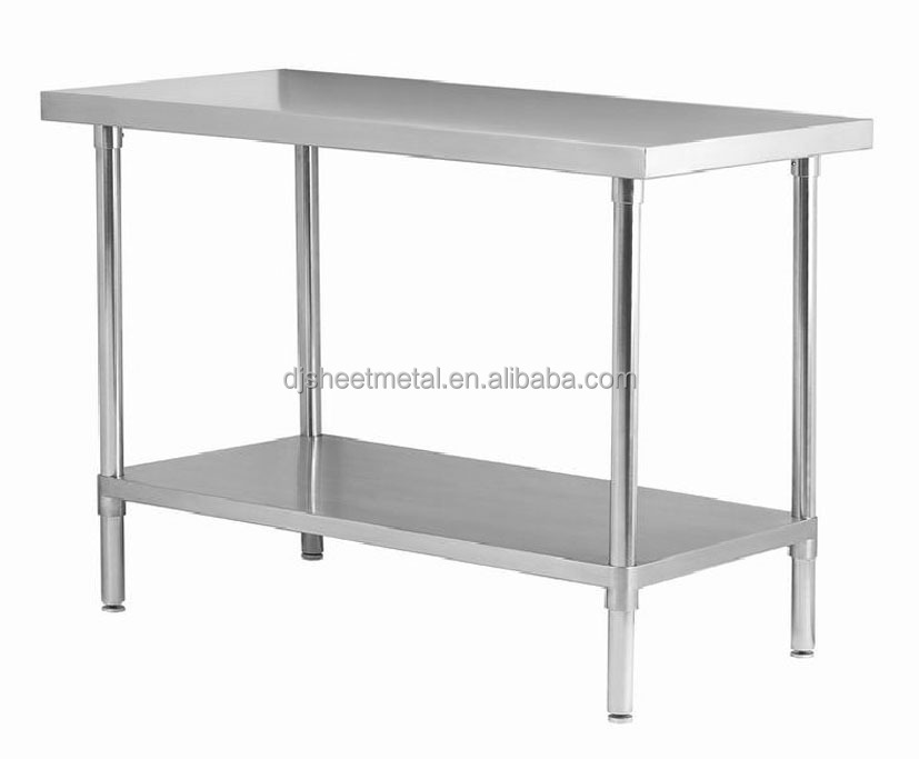 Commercial stainless steel work bench with undershelf