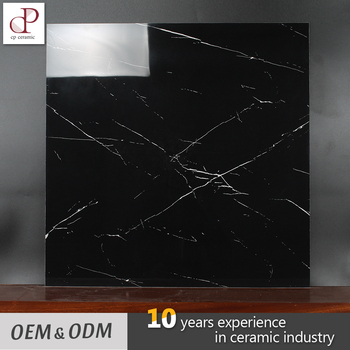 Indian Nero Margiua Mable Polished Glazed Restaurant Black And White Ceramic Floor Tiles