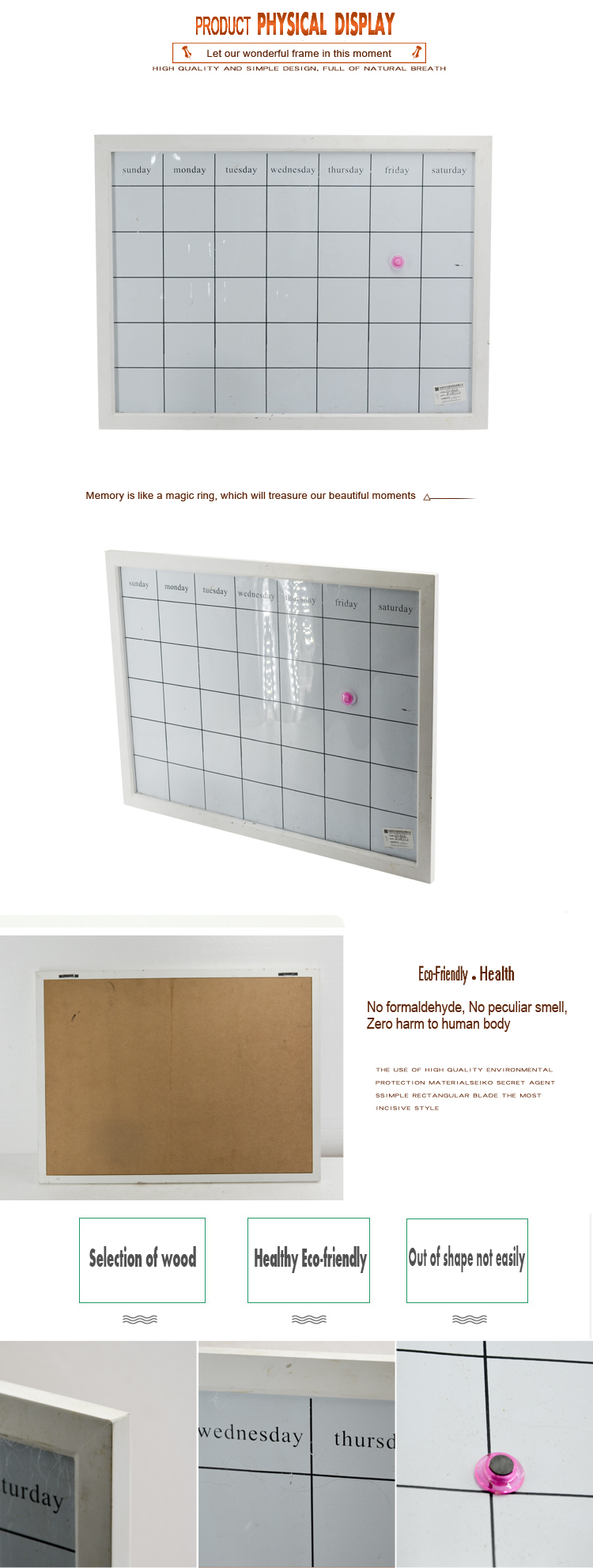 Hot sale school supplies multi function wholesale office design magnetic bulletin  notice board