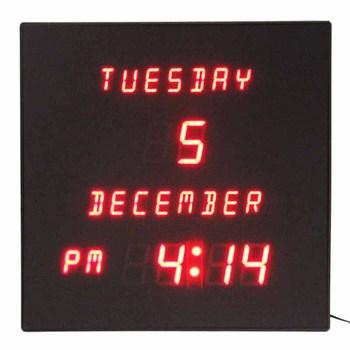 2018 New European Led Alphabet Display Large Digital Wall Calendar