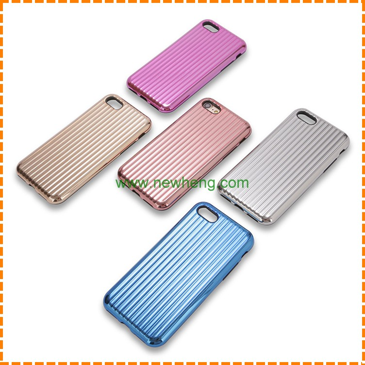 New electroplating Vents Heat Dissipation Non-slip Phone Case For iPhone 7