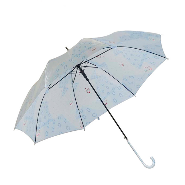 Custom Weatherproof OEM Unique Sky Blue Women Umbrella With Logo print