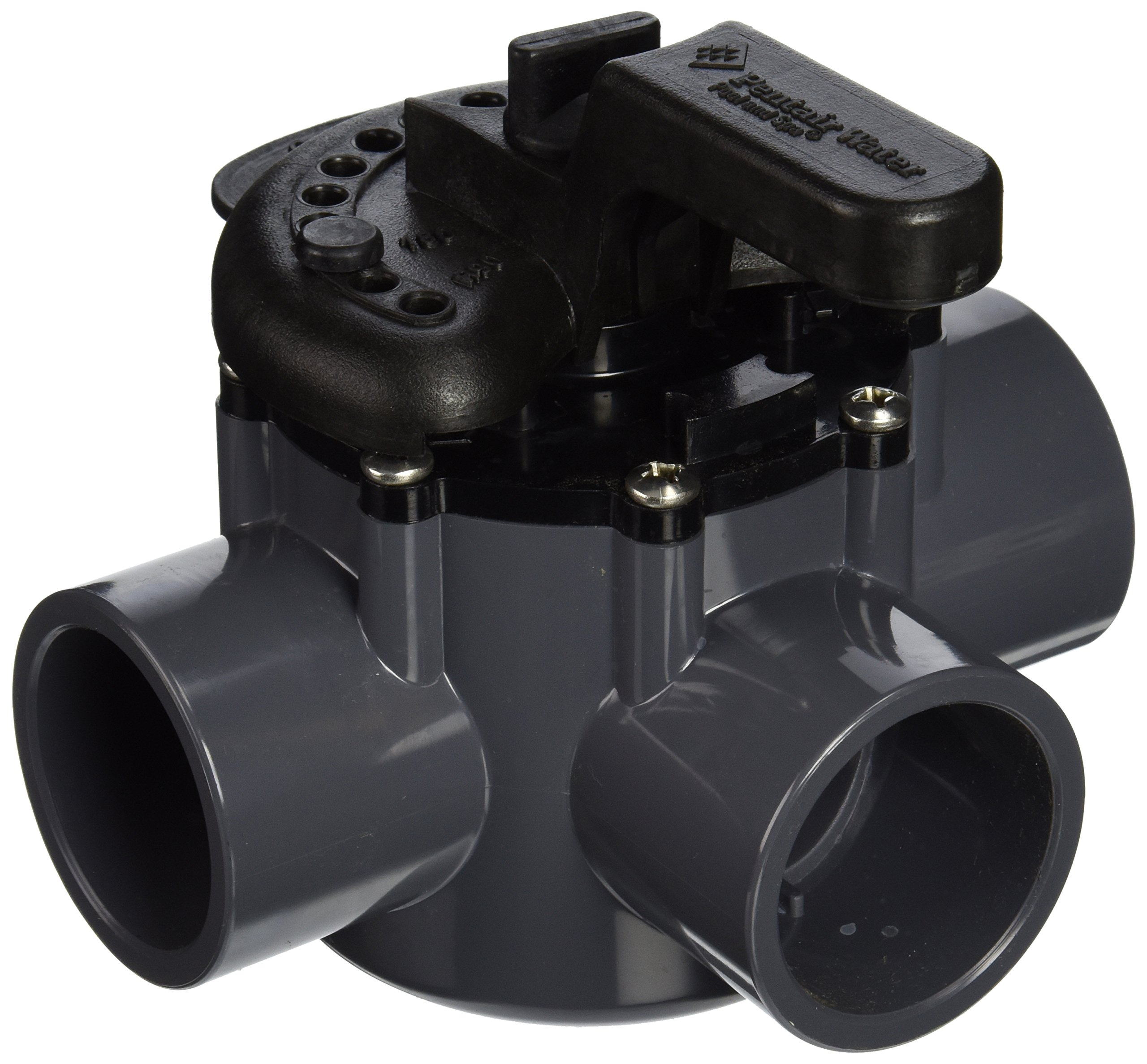 Pentair 263037 3-Way PVC 1-1/2 inch (2 inch slip outside) Pool And Spa Diverter Valve
