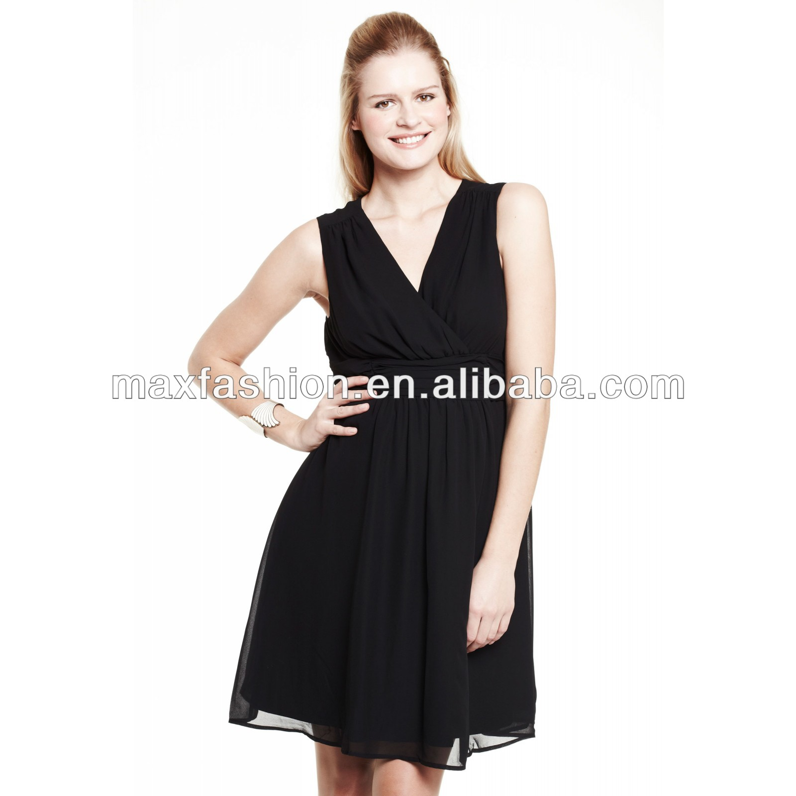 Plus Size Black Cocktail Dress For Fat Lady - Buy Plus Size Black ...