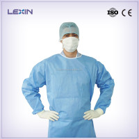 Blue surgical gown