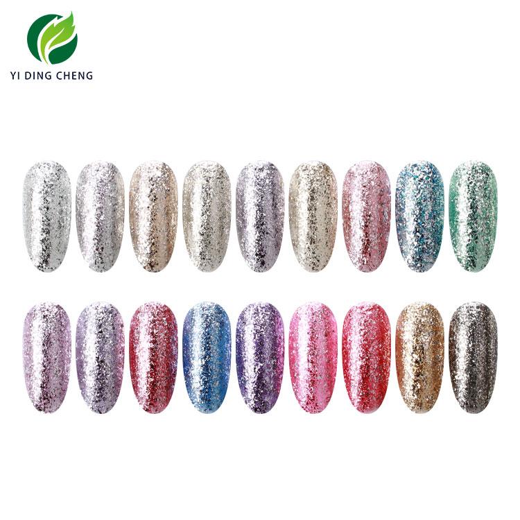 Free Samples OEM/ODM Yidingcheng factory new products hot selling soak off platinum sharp flashing gel polish