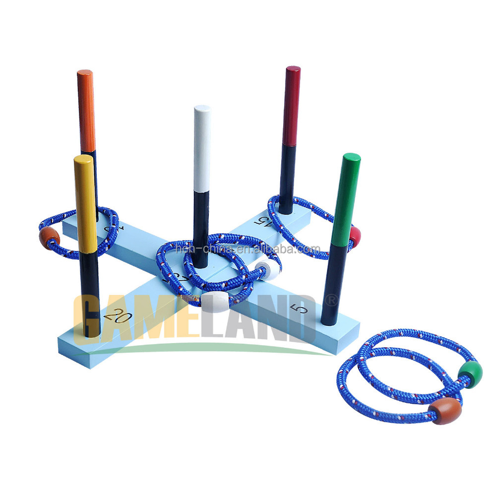 Wooden Ring Toss Game เกมกลางแจ้ง