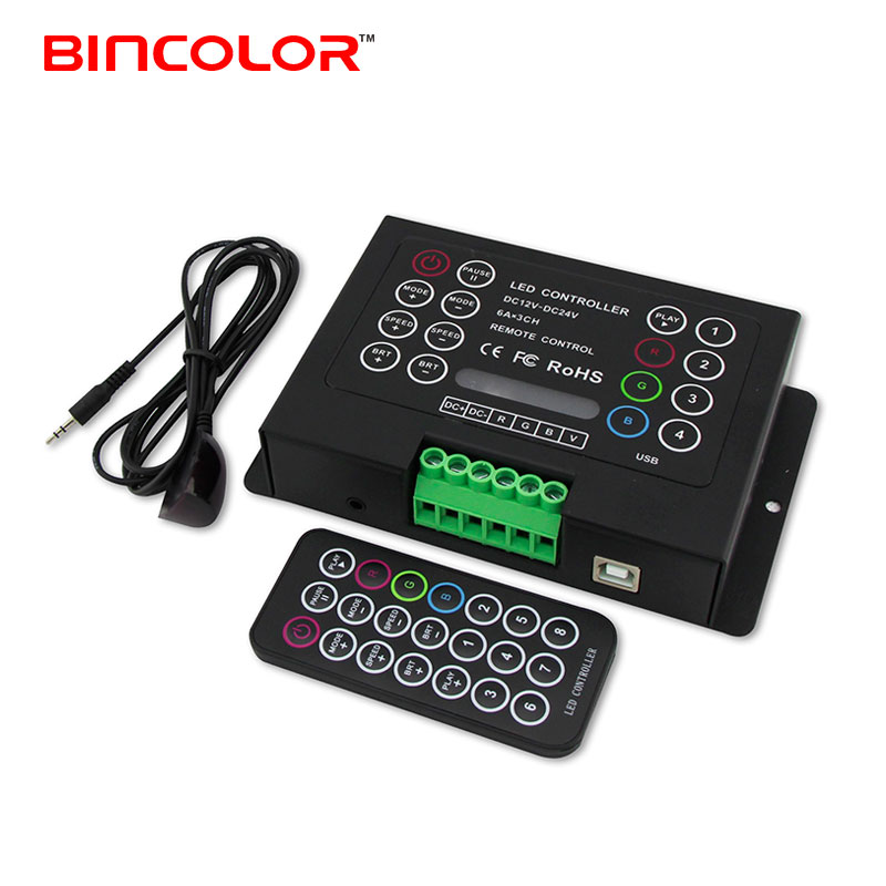 BC-380-6A 3 channel 21 key ir remote control 6A diy multifunction led strip rgb <strong>controller</strong>