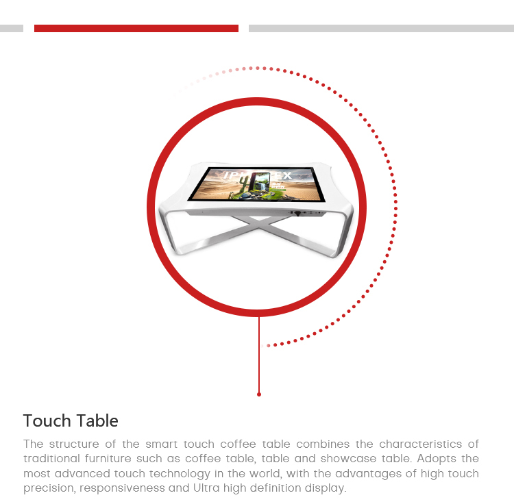Factory Direct X type Interactive Smart Touch Table