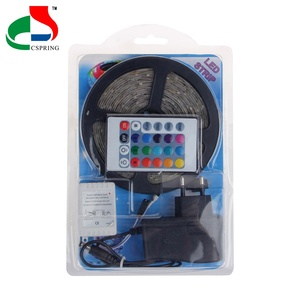 New Arrival 12V Colorful RGB 2835 5050 LED Strip Light with 24 Keys IR Remote Control and Control Box