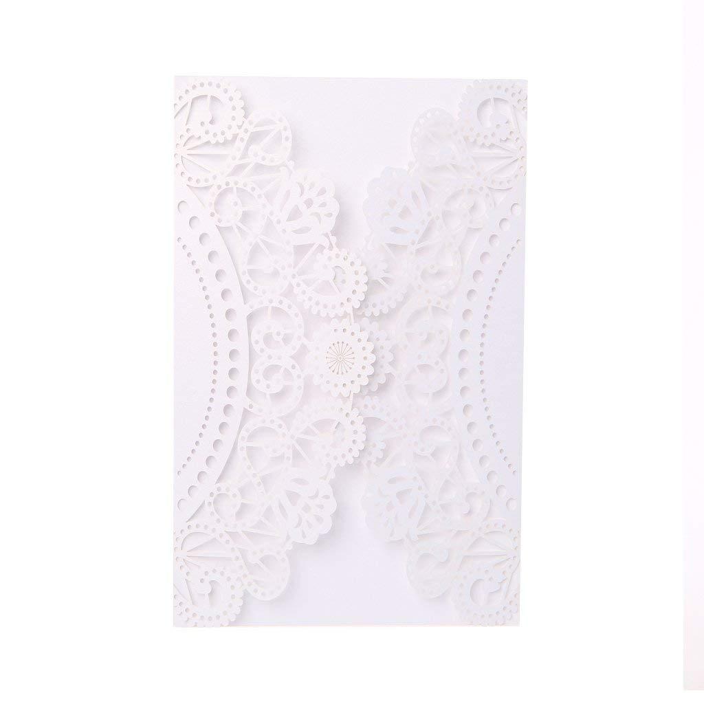 Ladaidra 10Pcs Wedding Invitation Cards Kits with Envelopes Seals Personalized Printing