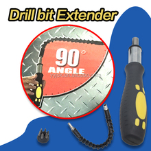 As Seen On TV Snake Drill Bit Extender Flexible Drilling Bit Extends reach up to 12 inches with Ratchet Tool