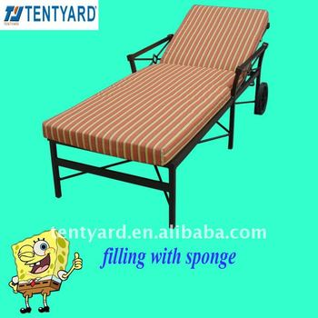 Sponge Cushion For Deck Chair With Polyester Cover