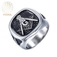 Customer Engraved Design Biker Ring Silver Championship Masonic Ring