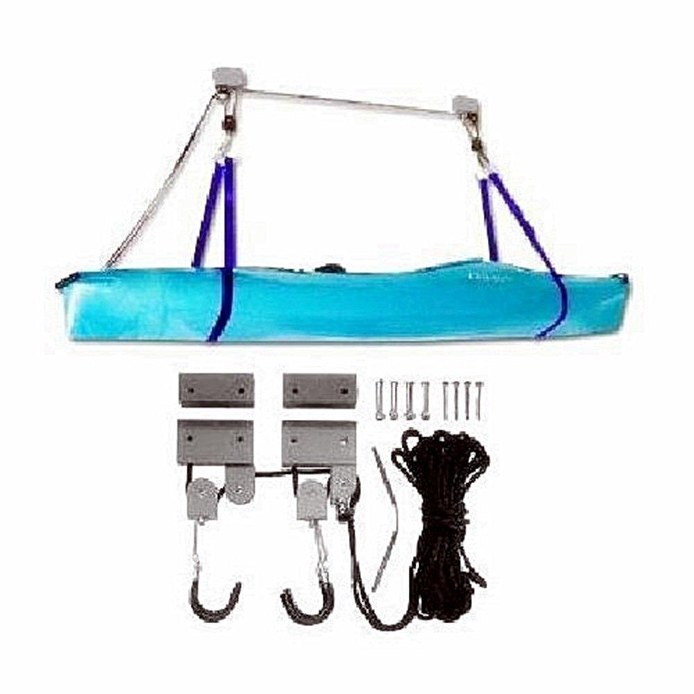 Prosource Kayak Garage Storage Hoist 125-pound Heavy Duty Garage Utility Canoe and Kayak Storage Lift
