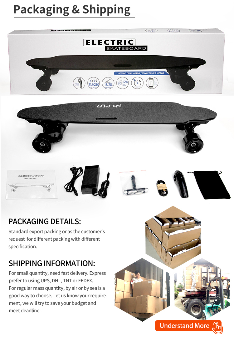 Fastest 45kmh board skate longboard  manufacturer wholesale belt drive electric skateboard for sale