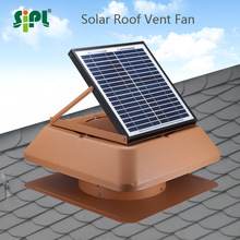 Rust-proof galvanized steel case solar panel powered roof vent fan outdoor ventilation exhaust axial fan