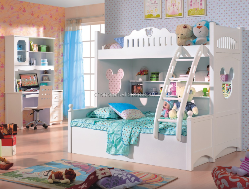 White Mickey Mouse Bunk Bed 2016 Cheap Double Bunk Bed